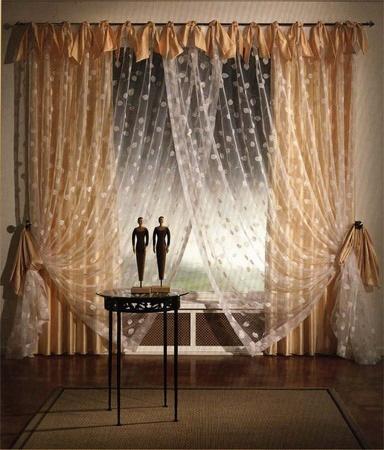 лёгкие шторы для гостиной фото