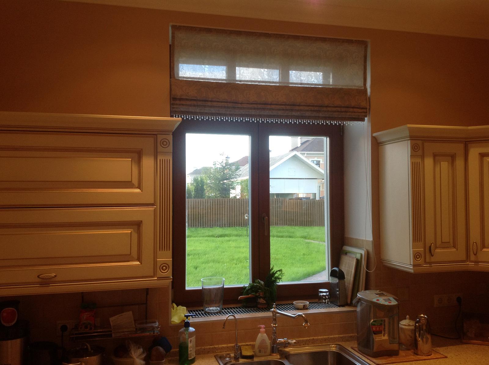 Шторы на кухонное окно фото